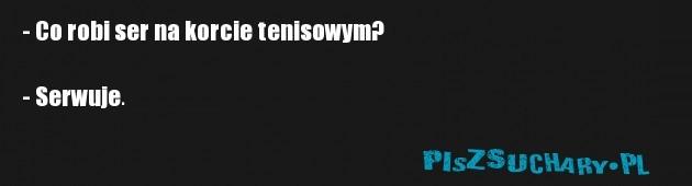 - Co robi ser na korcie tenisowym?   - Serwuje.