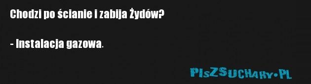 Chodzi po ścianie i zabija Żydów?  - Instalacja gazowa.
