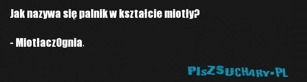 Jak nazywa się palnik w kształcie miotły?   - MiotłaczOgnia.