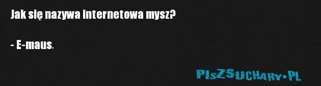 Jak się nazywa internetowa mysz?  - E-maus.