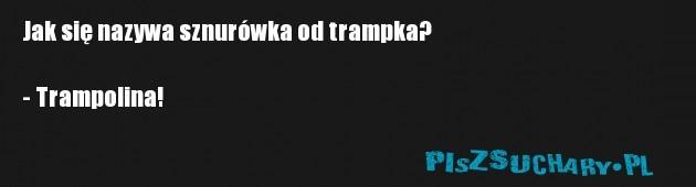 Jak się nazywa sznurówka od trampka?  - Trampolina!