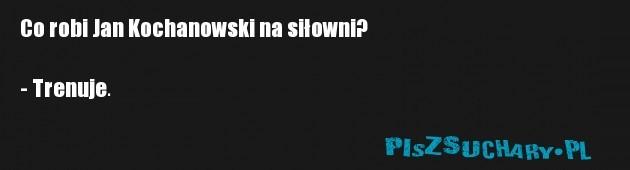 Co robi Jan Kochanowski na siłowni?  - Trenuje.