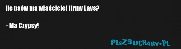 Ile psów ma właściciel firmy Lays?  - Ma Czypsy!