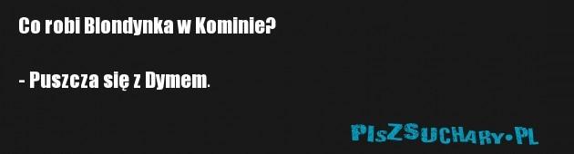 Co robi Blondynka w Kominie?  - Puszcza się z Dymem.