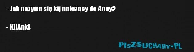 - Jak nazywa się kij należący do Anny?  - KijAnki.
