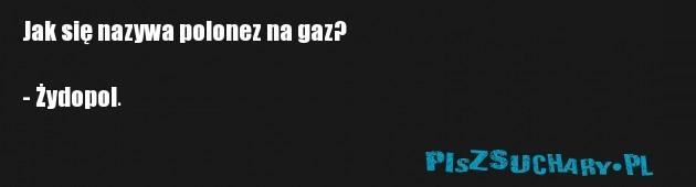 Jak się nazywa polonez na gaz?  - Żydopol.